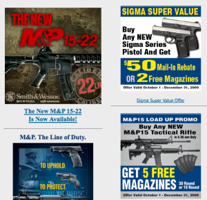 Assault rifles and handguns for sale